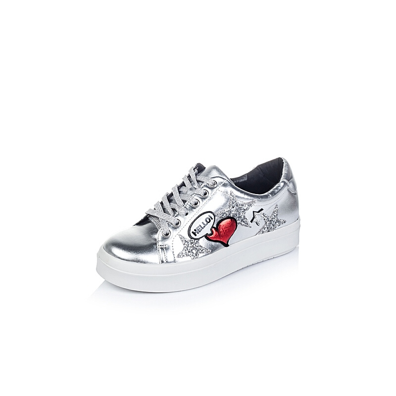 Tata/他她专柜同款牛皮休闲女单鞋2KE33CM6小白鞋运动鞋女小白鞋女