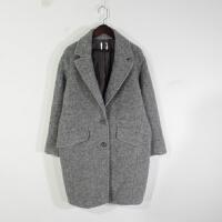 N01067秋冬新款韩版西装领两粒纽扣显瘦好搭配女纯色毛呢外套