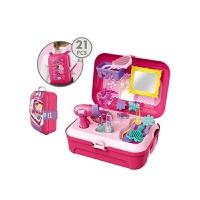 儿童玩具仿真餐具男女孩过家家背包收纳箱套装梳妆台收银工具医生