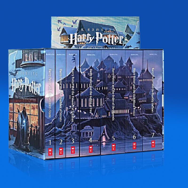 哈利波特英文原版全集英文原版 1-7盒装特别珍藏版(美国版) Harry Potter Paperback 1-7 Box Set 经典畅销小说 荣获《出版人周刊》图书奖、英国国家图书奖、美国图书馆协会杰出图书奖