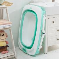 大号浴盆婴儿泡澡 儿童洗澡桶可折叠宝宝浴桶可坐躺洗澡盆