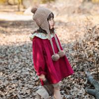 冬季女童秋冬连衣裙女小童洋气裙子深秋加绒加厚冬季娃娃领儿童冬裙款秋冬新款