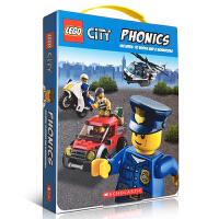 【全店300减100】英文原版学乐出品 Scholastic Lego City Phonics乐高城市英雄12册自然拼