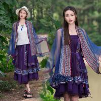 春夏季民族风围巾复古文艺设计师品牌百搭大气多功能女装披肩