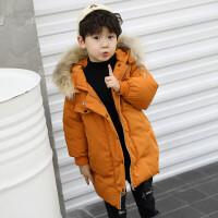 冬季男童儿童棉衣外套2018新款冬装羽绒中长款宝宝手塞棉袄韩版潮秋冬新款