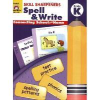 【现货】英文原版 幼儿园拼写技能训练 Skill Sharpeners Spell & Write, Grade K