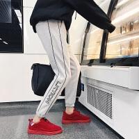 新品冬季新款加绒男士休闲裤学生长裤潮流运动裤韩版修身青年小脚