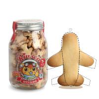 禾泱泱RIVSEA幼儿牛乳饼干飞机造型儿童零食辅食宝宝磨牙饼干150g