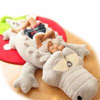 可爱大号鳄鱼毛绒玩具公仔睡觉抱枕长条枕布娃娃玩偶生日礼物女孩