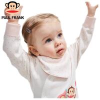 TWA2177305大嘴猴(Paul Frank) 婴幼儿纯棉口水巾宝宝三角巾38x16cm 3条装