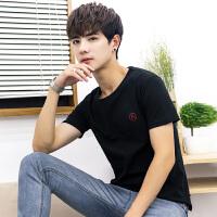 2018夏季潮流T恤男短袖日系卡通印花上衣青年棉圆领体T恤衫学生