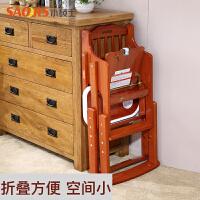 BB凳可升降餐桌椅儿童餐椅实木可折叠宝宝婴儿吃饭椅