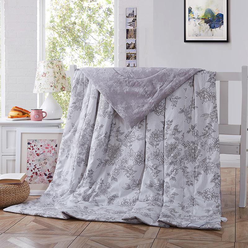 当当优品 全棉印花水洗夏凉被 空调被 午睡被 枫丹白露200*230cm当当自营 纯棉面料 环保印染0刺激 可水洗不变形