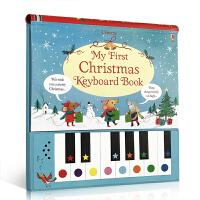 英文原版 My First Christmas Keyboard Book 圣诞节钢琴键盘书发声书含9首儿歌童谣2-3