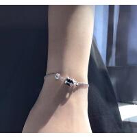 慈善款小红人黑陶瓷手链bv s925纯银男女情侣手链仿宝格利同款 手链17.5cm可调节(赠送原包装)
