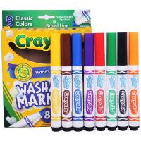 当当自营Crayola 绘儿乐 8色可水洗粗头水笔 58-7808