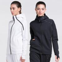 秋冬新款运动服跑步健身外套女速干拉链连帽瑜伽服长袖