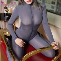 【久朝货到付款】情趣内衣性感透明连裤袜极度诱惑女长筒袜防滑黑丝袜7872