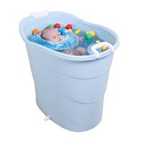 大宝宝浴盆泡澡桶浴桶洗澡盆 婴儿圆形游泳桶池儿童带盖子洗澡桶