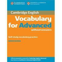 【预订】Cambridge Vocabulary for Advanced Without Answers