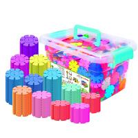 雪花片积木拼插男女孩儿童1-7周岁宝宝塑料拼装玩具