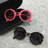 新款儿童太阳镜小孩墨镜宝宝眼镜圆框男女童遮阳镜