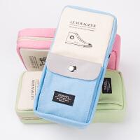 笔袋女学生文具袋韩国可爱简约帆布笔袋大容量儿童文具盒