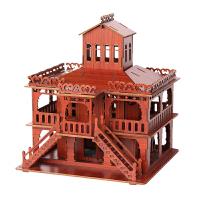 摩天轮建筑摆件立体拼图送男女孩生日礼物玩具木质3D手工制作