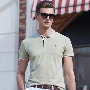 2019夏季polo衫男短袖t恤男士翻领半袖宽松纯色体恤衣服青年男装