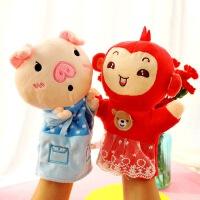 玩偶亲子游戏讲故事玩具腹语手套动物木偶可张嘴