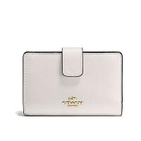 【当当自营】蔻驰(COACH)新款女士十字纹皮革卡包钱包手拿包   F54010