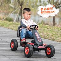 儿童卡丁车男女宝宝四轮脚踏运动健身车小孩脚蹬可做玩具自行赛车O 炫酷黑 脚踏四轮车:环保塑料轮 其它