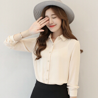 【开年促销】春季新款韩版雪纺加绒衬衫女长袖保暖衬衣打底上衣
