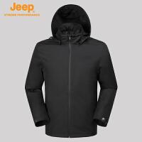 【特惠价】Jeep/吉普 男士户外运动夹克外套防水防风冲锋衣J732094005