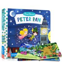 英文原版BUSY系列童话故事书 First Stories Peter Pan 儿童纸板机关操作活动书 小飞侠彼得潘 2-6岁