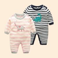 6-12个月婴儿毛衣男新生儿衣服周岁宝宝衣服女秋装一岁公主连体衣