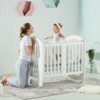 20190709071457860欧式婴儿床拼接大床多功能新生儿宝宝bb床无漆游戏床摇篮蚊帐儿童