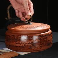茶叶罐陶瓷家用复古密封罐大号通用普洱茶醒茶罐