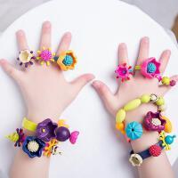 波普串珠珠子玩具儿童手工DIY宝宝无绳拼插女孩手链项链益智