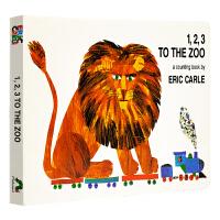 123去动物园英文原版 123 to the Zoo Eric Carle 艾瑞卡尔卡爷爷 无字书