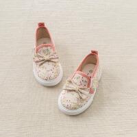 davebella戴维贝拉2018夏季新款女童鞋子 宝宝休闲鞋帆布鞋DB6743