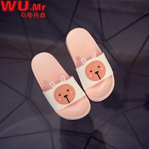 儿童拖鞋 男女童塑胶卡通平底凉鞋子夏季韩版新潮时尚可爱防hua4滑耐磨中小童款式拖鞋
