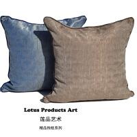 几何纹沙发抱枕 新中式简约现代古典东南亚靠垫