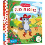 英文原版 Busy系列 First Stories Puss in Boots 穿靴子的猫 纸板操作活动书