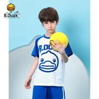 专柜同款 B.duck小黄鸭童装男童套装2020夏装新款中大童短袖儿童运动两件套BF2181911