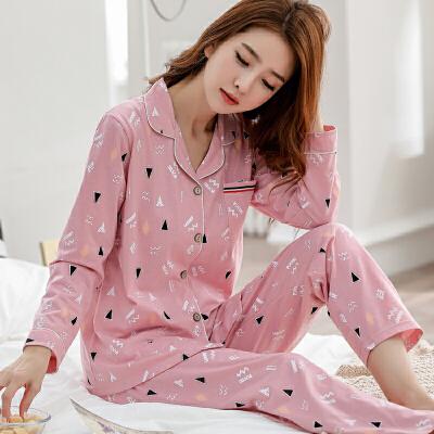 春秋季睡衣女纯棉长袖韩版甜美薄款全棉女士休闲冬夏季家居服套装 发货周期:一般在付款后2-90天左右发货,具体发货时间请以与客服协商的时间为准