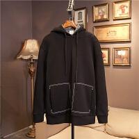 套头连帽卫衣男士秋冬季韩版修身长袖潮流上衣服外套日系