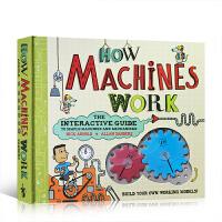 英文原版How Machines Work 万物运转的秘密 机械运转的秘密 动物园大逃亡 少儿机械科普绘本读物 作者A