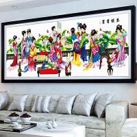 印花十字绣琴棋书画 新款客厅线绣十二金钗 美女红楼梦12十二金叉