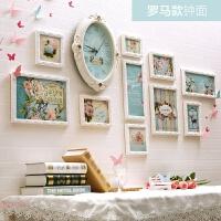 欧式实木照片墙客厅卧室现代装饰相片墙儿童温馨创意相框组合挂墙